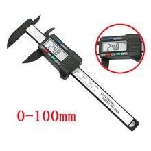 100mm/4 polegada lcd digital régua eletrônica de fibra carbono vernier caliper calibre micrômetro ferramenta medição calibre digital suwmiarka