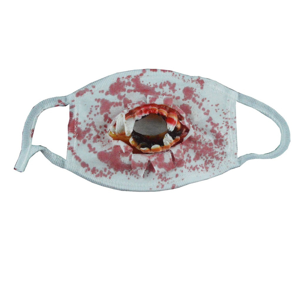 Face Mouth Muffle Mask Creative Halloween Scary Horror Mouth Mask Face Fancy Teeth Zombies Bloody Horrific Gift K923