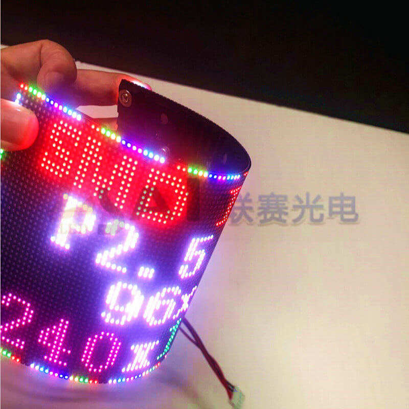 P2 5 smd indoor rgb flexible full color led module dot matrix billboard use for special shapes led screen 240 120mm 32scan in LED Modules from Lights Lighting