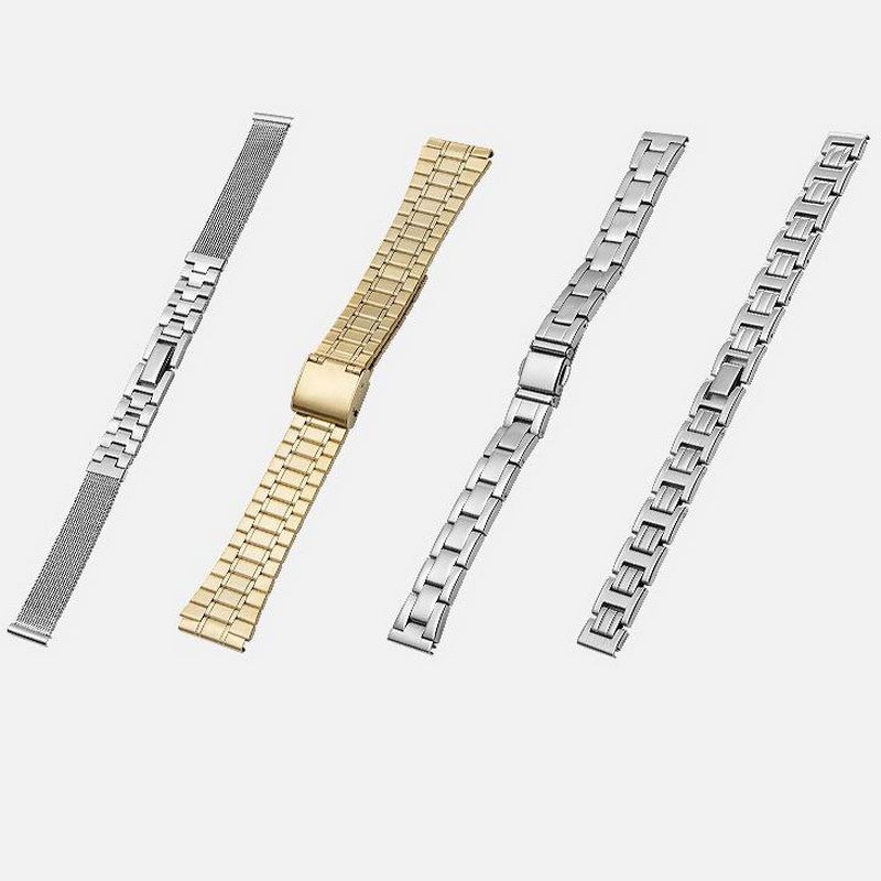 10mm 12mm 14mm 16mm 18mm Stainless Steel Watch Band Strap Bracelet Watchband Butterfly Clasps Silver Buckle For Women Men