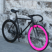 Bicycle 26 Inch Road Bike Fixed Gear Men and Women Style Adult Learning Life Fly Down Brake Bicycle Solid Tire Racing