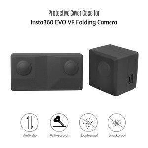 Image 5 - Silicone Mềm Mại Bảo Vệ Giá Đỡ Bảo Vệ Vỏ Túi Du Lịch Cho Insta360 EVO VR Gấp Phụ Kiện Chống Sốc