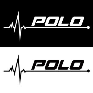 Image 2 - 1PCS New Heart Car Sports Decal Sticker Styling Windows Door Decoration For Volkswagen POLO Scirocco CC GOLF Tiguan accessories