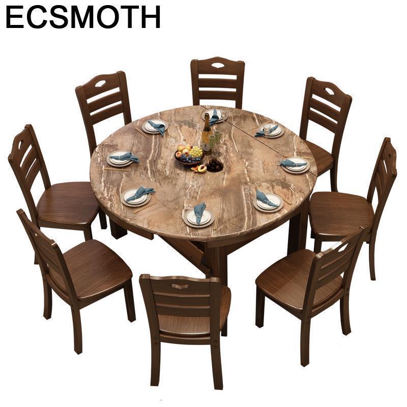 Redonda Comedores Mueble Eettafel Salle A Manger Moderne Esstisch Kitchen Wood Round De Jantar Tablo Bureau Mesa Dining Table