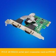 цена на PCI-E 2S serial card two COM ports RS232 communication multi serial port expansion card mcs9901