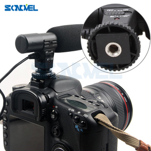 Image 5 - Mic 01 Professionnel Fusil Condenseur Microphone Caméra pour Canon EOS M2 M3 M5 M6 800D 760D 750D 77D 80D 5Ds R 7D 6D 5D Mark IV