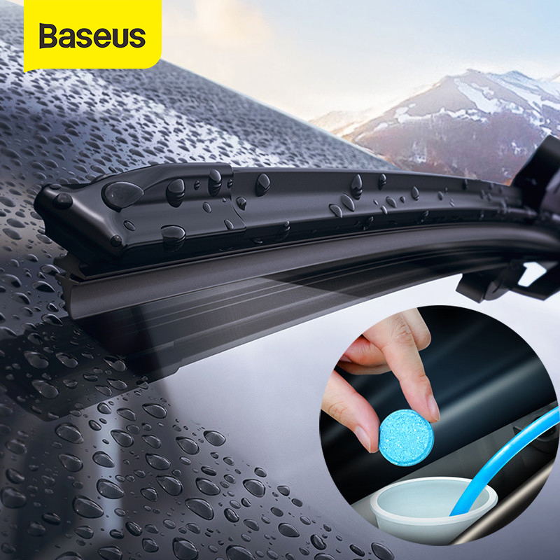 Baseus 12PCS Car Windshield Glass Solid Cleaner Solid Wiper Washer Auto Window Cleaning Fine Seminoma Wiper Car Accessories