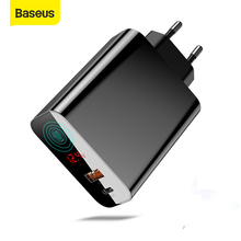 Baseus Quick Charger 45W Usb C Type C Usb Charger 3.0 EU Adapter Fast Charger for Mobile Phone Charging Travel Wall Charger Plug