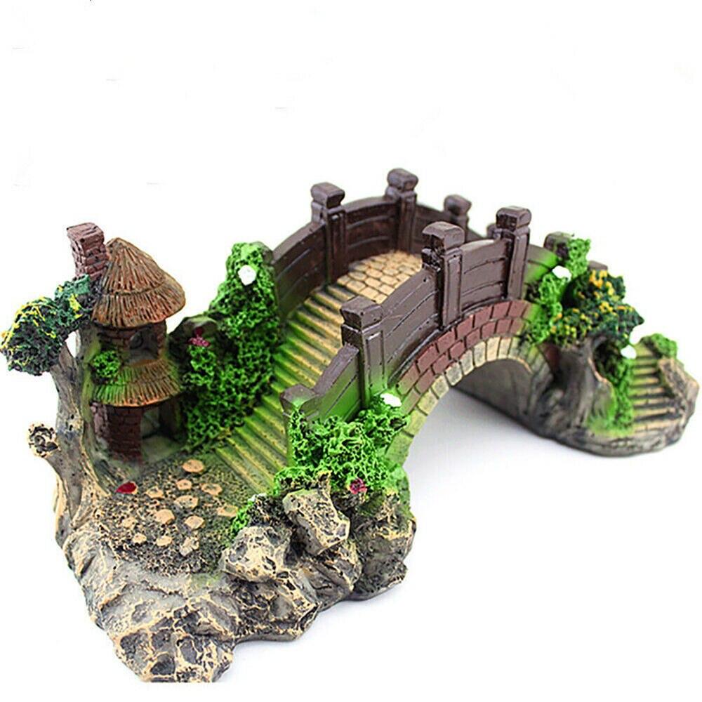 Аквариумный Ландшафтный декоративный мост, имитация каучука, украшение для аквариума, аквариумное украшение