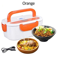 12V/24V Car Electric Heating Heated Thermal Dish Electric Heating Lunch Box For Adult Food Containers Storage Case Kitchen Tools|Lunch Boxes| |  -
