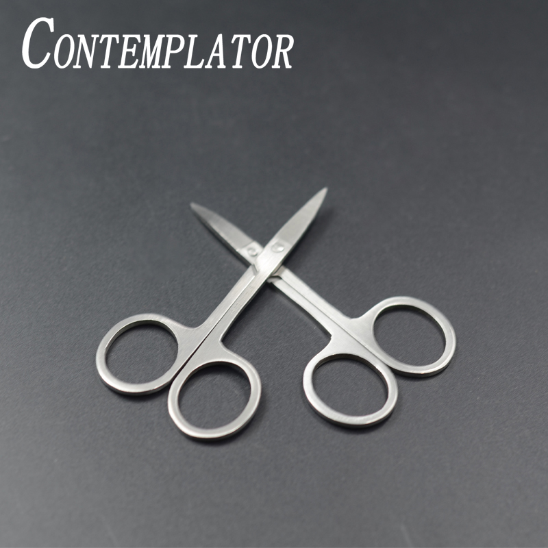 """CONTEMPLATOR 2pcs Economical Fly Tying Scissor Arrow Point 3.3"""" Stainless Steel Fly Fishing Scissor Cutting Fly Tying Threads"""