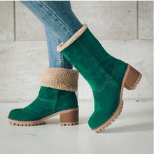 Купить с кэшбэком Winter Ankle Boots Women Flock Warm Fur Boots Rubber Bottom Comfortable Slip-on Shoes Short Plush Snow Boots Plus Size 35-43