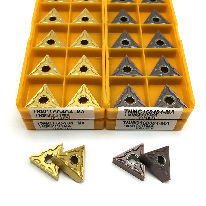 Купить с кэшбэком TNMG160404 TNMG160408 Carbide inserts External Turning Tools CNC metal lathe tools high quality turning insert Cutting tool TNMG