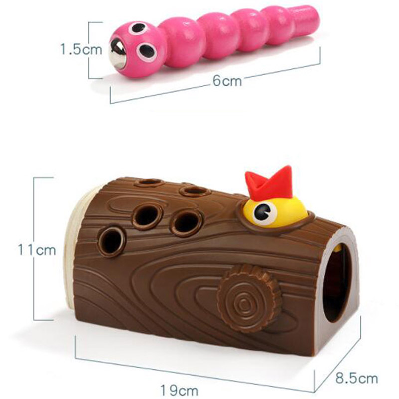 Hot Woodpecker Feeding Game Magnetic Capture Hand Eye Coordination And Fine Motor Skills Early Education Puzzle Children Toys