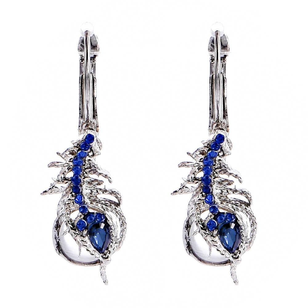 Mode Mond Stein Vintage Tropfen Baumeln Peant Ohrring Frauen Dame Partei Ohrringe Schmuck Geschenk