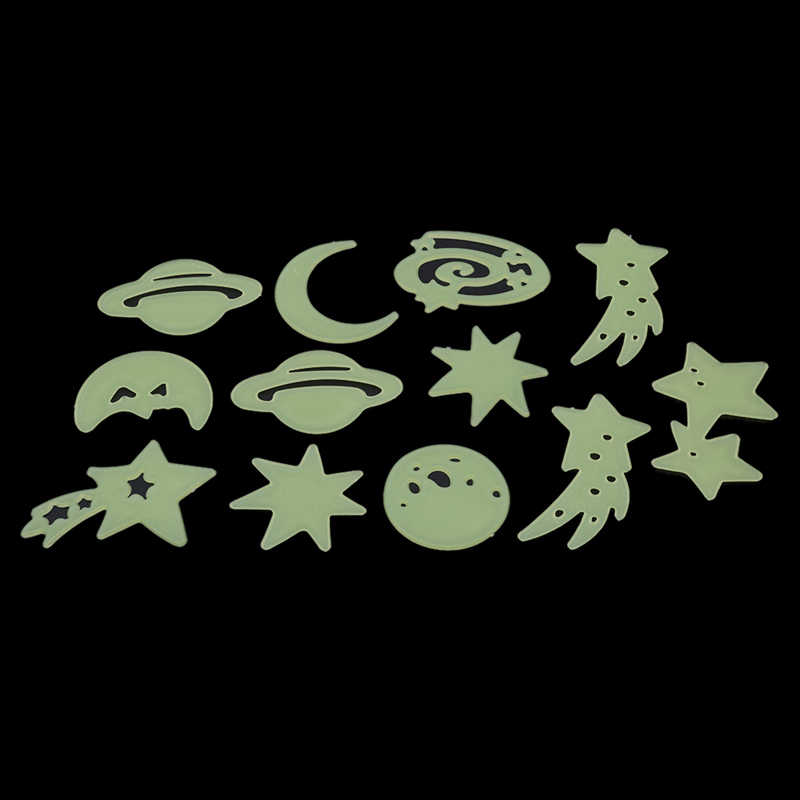 Fluorescent Stickers Universe Planet Star Glow Dark Luminous Celling Wall Art Home Paste Ceiling Wall Stickers Decoration-