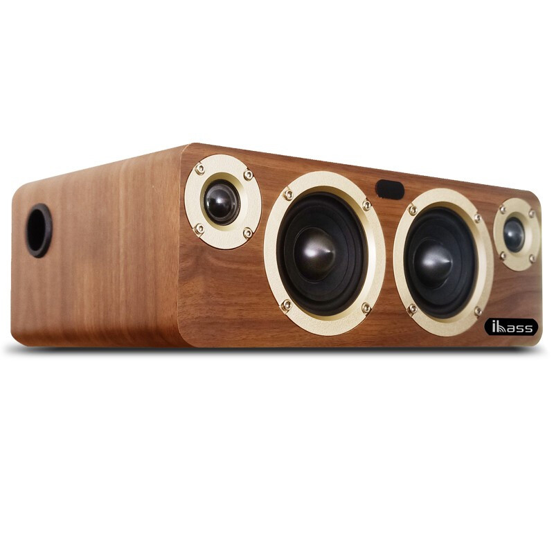 80W <font><b>Bluetooth</b></font> <font><b>Bookshelf</b></font> <font><b>Speaker</b></font> HD Audio TV Louderspeaker Home Computer Music Player SPDIF Wood <font><b>Speakers</b></font> Built-in TI3116 Chip image