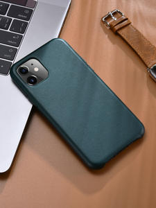 Original Cowhide Genuine Leather Back Case for iPhone 11 Slim iPhone11 Pro Phone Case