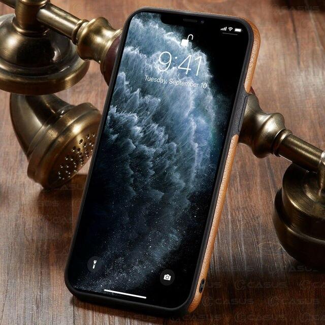 Pour iphone 11 11 Pro 11 Pro Max étui de luxe en cuir d'affaires couture housse pour iphone XS Max XR X 8 7 6 6S Plus étui 5