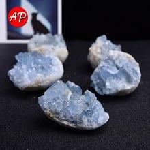 1PC Madagascar Natural Celestite Mineral Healing Crystal Cluster Sky Blue Irregular Gem Stone Specimen Home Decor Quartz