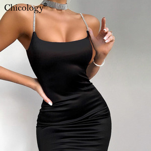 Chicology diamond thin strap bodycon sexy mini dress party club sleeveless women 2020 summer fashion outfit female short clothes