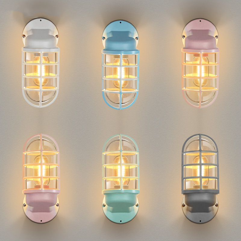 Nordic LED Wall Light Outdoor Lighting Glass Shade Outdoor Wall Lamp Courtyard Porch Lights LW514427PY