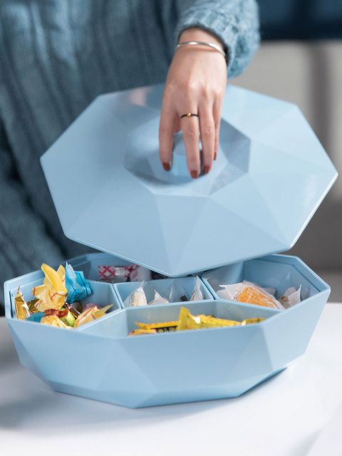 Creative Fruit Dish Seperated Dried Fruit Box Candy Tray Specialty Plate Snack Box Food Container Storage Box melamine tableware