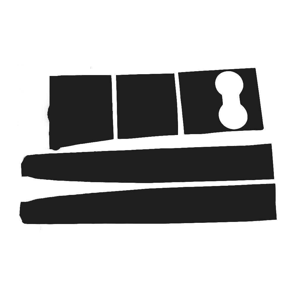 Car Cup Holder Sticker For Tesla Model 3 Car Stickers Decals Decorations Cover Part Matte Black Set Kit Car Decorative Sticker