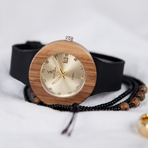 Image 2 - BOBO BIRD Complete Calendar Watch Women Zebra Quartz Wood Wristwatch Ladies Wooden Watches relogio feminino Dropship