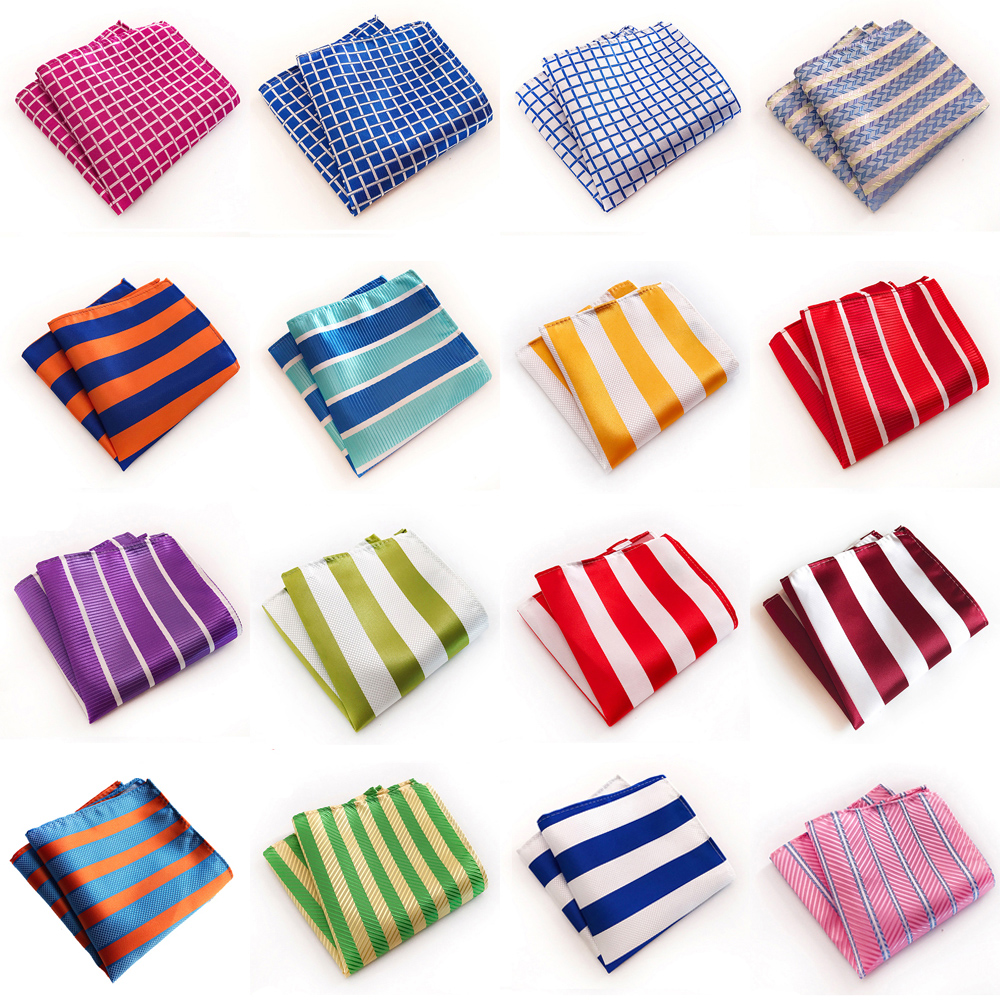 Mens Hanky Handkerchief Striped Checks Printed Wedding Party Pocket Square