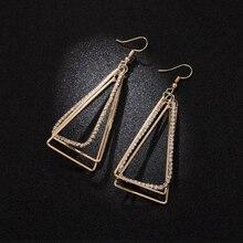 2019 Pendientes Geometry Long Eardrop Triangle Earrings Joker Contracted Hipster Pendant Wholesale Geometric Women Classic Sale