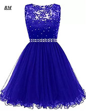 Синие короткие платья для встречи выпускников bm модель 2019