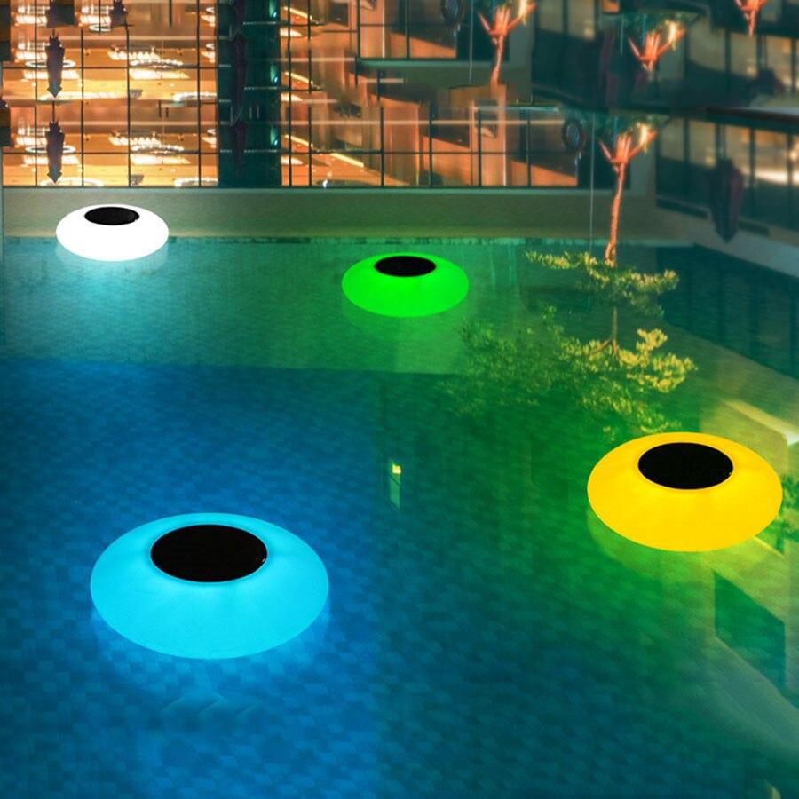 Уличная подводная лампа НЛО с дистанционным управлением, сменный RGB светильник для бассейна, пруда, праздничный плавающий ночник на солнечн...