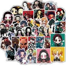 10 30 50pcs Japanese Anime Demon Slayer Girl Waterproof Stickers Skateboard Suitcase Guitar Motorcycle Graffiti Sticker