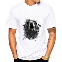 Microphone Song Men t shirt 2019 Latest popularity Boyfriend's short sleeve o-neck Comfortable All Cotton Tees(China)