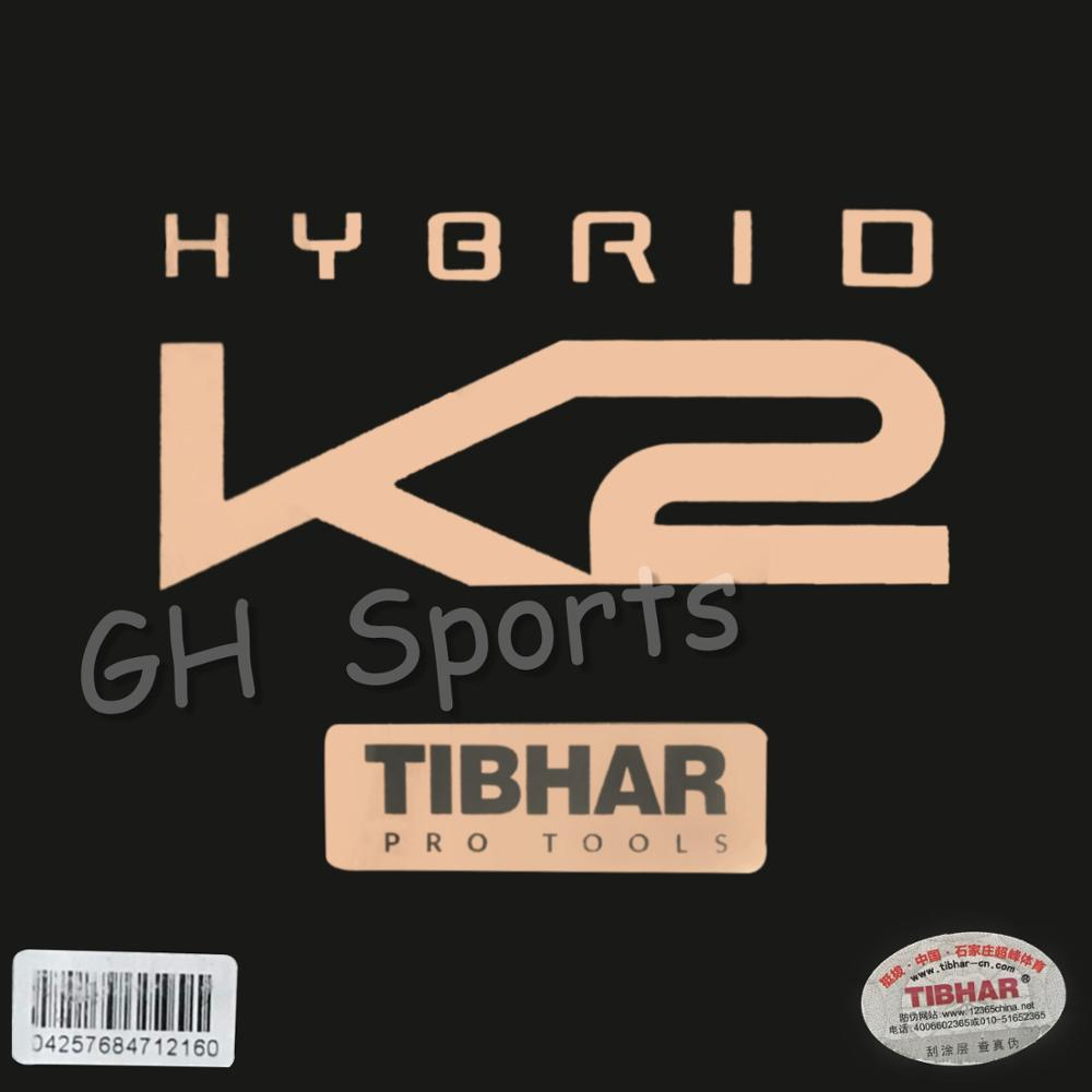 TIBHAR HYBRID K2 (Sticky Rubber + German Hard Sponge, Speed & Spin) Pips-in Table Tennis Rubber Ping Pong Sponge