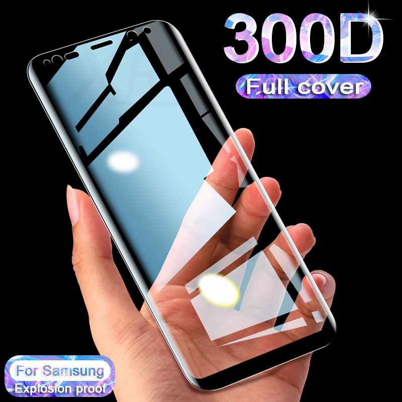 300D Full Curved Tempered Glass For Samsung Galaxy S10E S7 S6 Edge S8 S9 Plus Screen Protector On Samsung Note 8 9 10 Glass Film