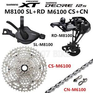 Image 2 - Shimano Deore Xt Slx M8100 M7100 M6100 Groepset Mtb Mountainbike 1x12 Speed 10 51T M7100 M8100 Shifter Achter derailleur