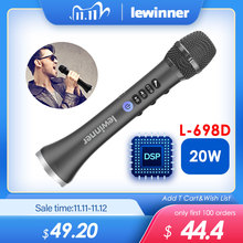 Lewinner L 698DSP professional 20W Bluetooth karaoke microphone speaker portable wireless mini home KTV for Sing and music play
