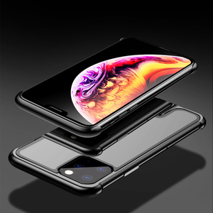 Image 4 - Armor Metal Bumper Case For iPhone 11 Pro Max Case Pull Plus Tempered Glass Highly Shockproof Cover For iPhone 11 Pro Coque Case