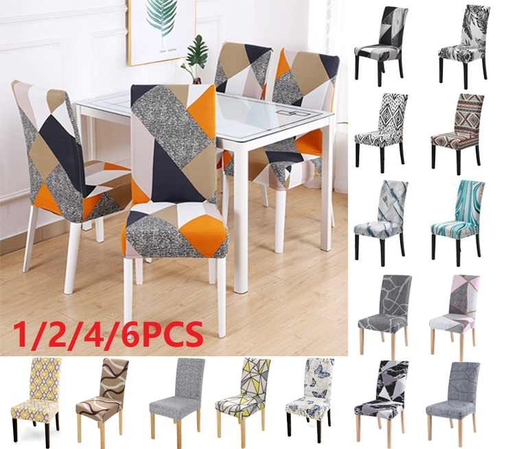 Stretch Dining Room Chair Cover Seat Slipcover Wedding Party Decor 1//2//4//6pcs