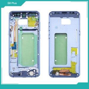 Image 4 - Netcosy Samsung S8 G950 S8 artı G955 orta çerçeve plaka çerçeve muhafazası kapağı için Replacemenrt Samsung S9 G960 S9 artı G965