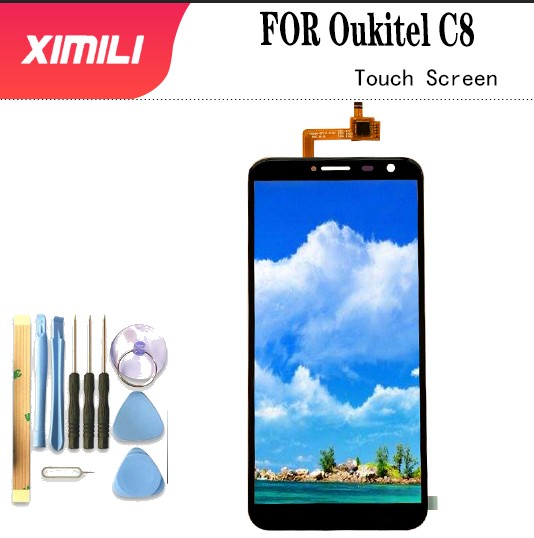 Tested De For 100% Original OUKITEL C8 Touch Panel Perfect Repair Parts Touch Replacement 5.5inch Oukitel C8 Phone Use + Tools