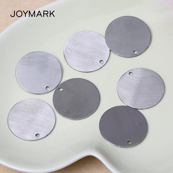 JOYMARK 100pcs/lot 30*30mm Stainless Steel Blank Round Tags Plates Charms DIY Fashion Jewelry Accessories BXGT1505