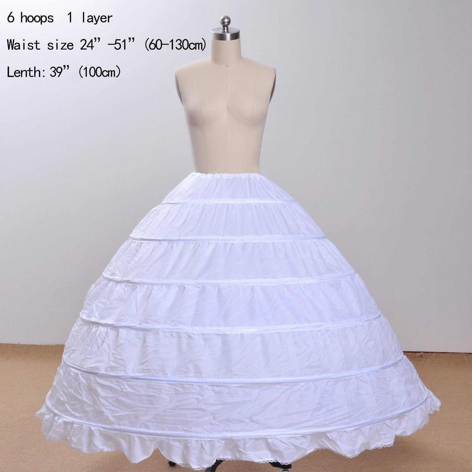 New Cheap 6 Hoops Wedding Accessories Ball Gown Petticoats For Wedding Dresses