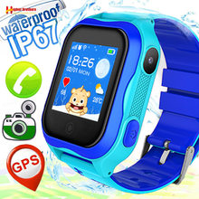 IP67 Waterproof Smart GPS WIFI Tracker Locator Finder Kids Baby SOS Call Remote Monitor Camera Alarm Phone Watch Wristwatch(China)