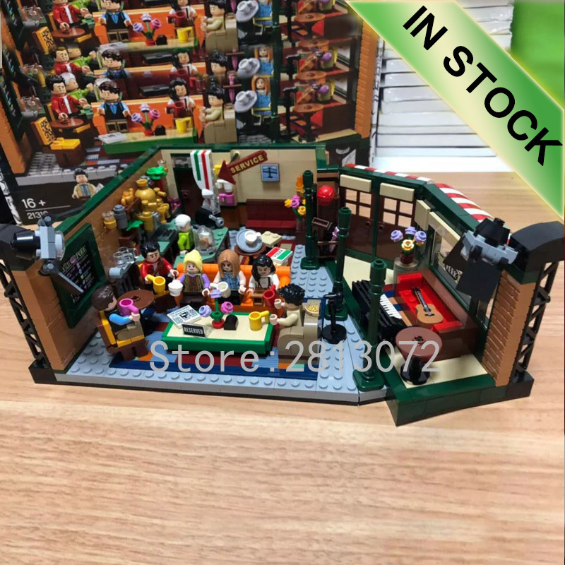 21319 In Stock Friends Central Perk And Big Bang Theory Ideas Model Building Blocks Bricks Toys Compatible With 16024 21302