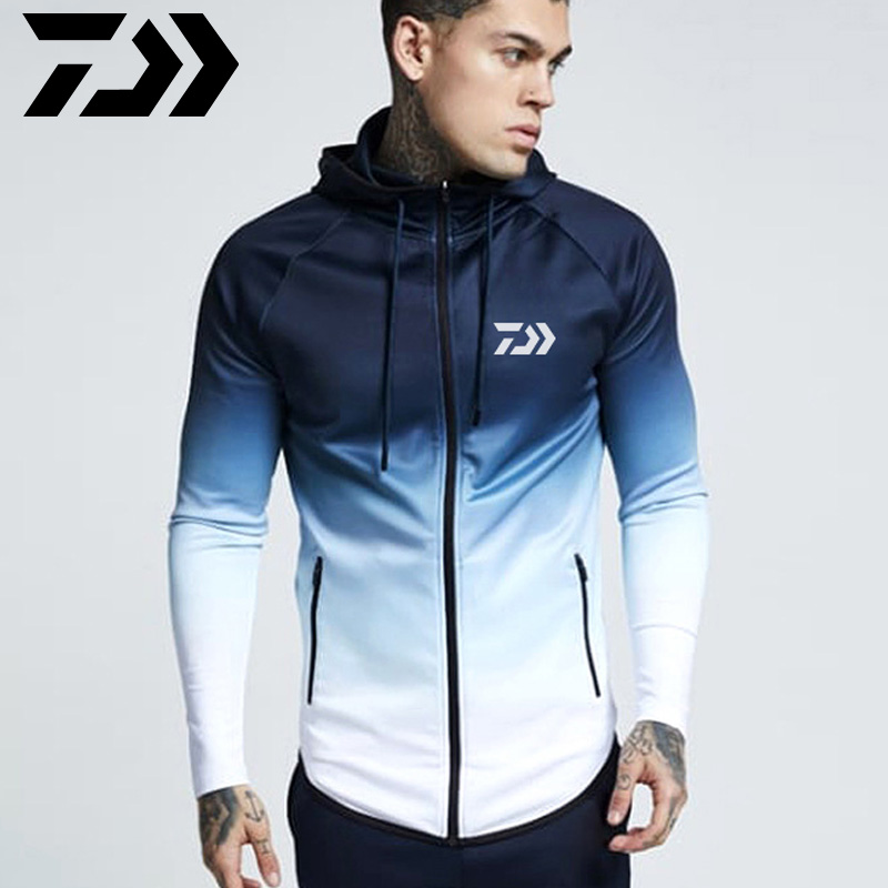 2020 New Daiwa Fishing Hoodie Sweatshirt Men Spring Fishing Jacket Hooded Daiwa Autumn Outdoors Fishing Clothes Cycling Jersey