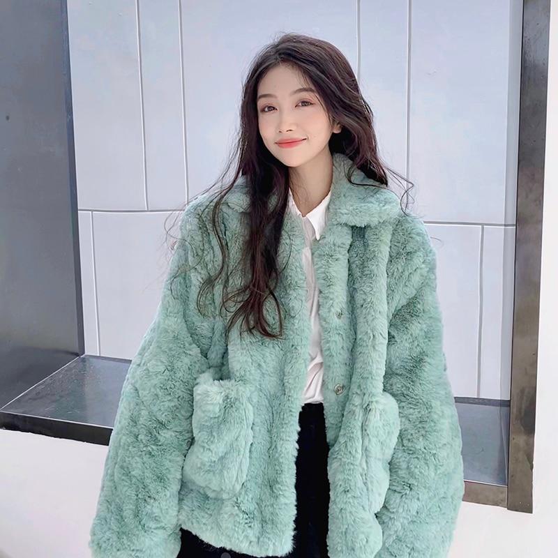 Hbe12304784b948c3860e3dd5202ba53au Plush jacket women winter short 2021 new Korean version of loose lamb wool faux fur leopard print fur coat women winter