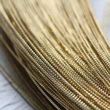 4 metros (13.12 pés) fio de envolvimento texturizado de bronze cru meio duro sólido